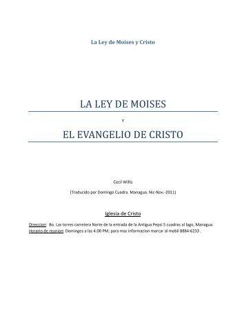 LA LEY DE MOISES Y CRISTO (pdf) - LLevando Fruto