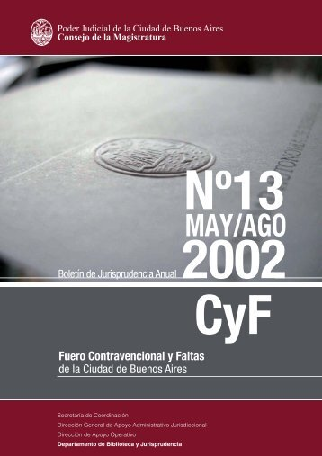 FCyF 2002 - MAY AGO - Juristeca - Poder Judicial de la Ciudad