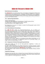 Ausschreibung 2010 - Wolfgang Heinz Event Marketing