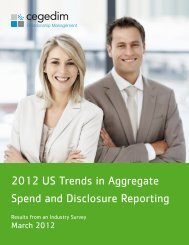 2012 US Trends in Aggregate Spend and Disclosure Reporting