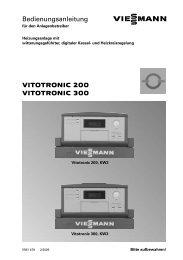 VITOTRONIC 200 VITOTRONIC 300 ... - Heizungs Mayer