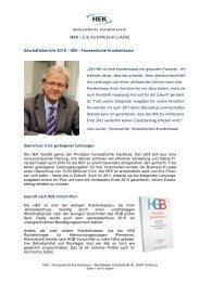 Geschäftsbericht 2010 – HEK – Hanseatische Krankenkasse