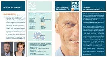 Informationsflyer Polikum Berlin - HEK