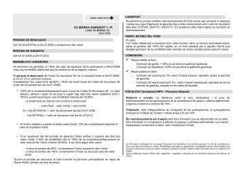 CC BORSA GARANTIT 1, FI - Catalunya Caixa