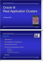 Oracle 9i Real Application Clusters - Held Informatik