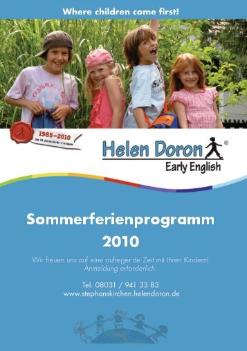 Sommercamp Layout - Helen Doron Early English