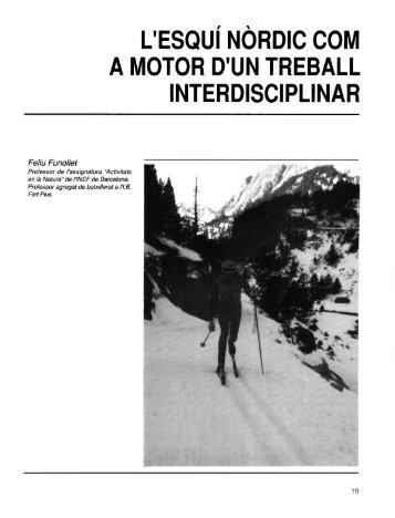 l'esqui nordic com a motor d'un treball interdisciplinar - apunts