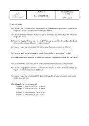 EL MOVIMENT Física i Química 2n ESO INS Vinyet ... - l'Escorial