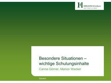 Diabetes: besondere Situationen - HELIOS Kliniken GmbH