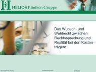 Das Wunsch- und Wahlrecht - HELIOS Kliniken GmbH
