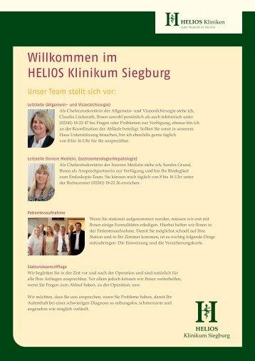 Unser Team - HELIOS Kliniken GmbH