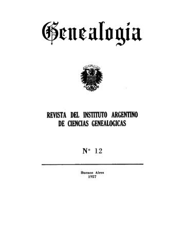 revista del instituto argentino de ciencias genealógicas n° 12