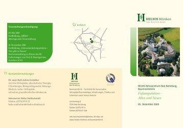 Fußamputation - Altes und Neues - HELIOS Kliniken GmbH