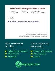 Rendimiento de la enteroscopia - edigraphic.com