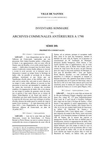 intégralité de la série DD au format PDF - Archives municipales de ...