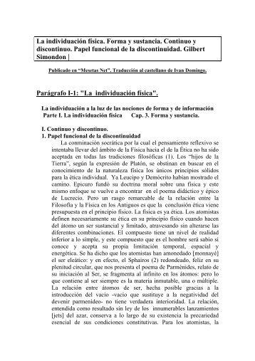 La individuación física Simondon..pdf - Pensamiento Abierto