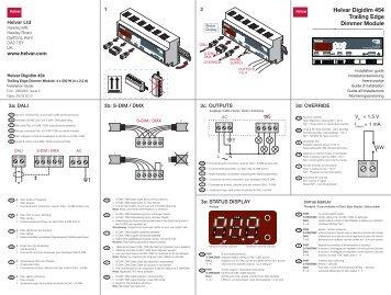Helvar Digidim 454 Trailing Edge Dimmer Module ! !