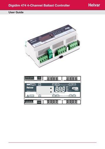 Digidim 474 4-Channel Ballast Controller - Helvar