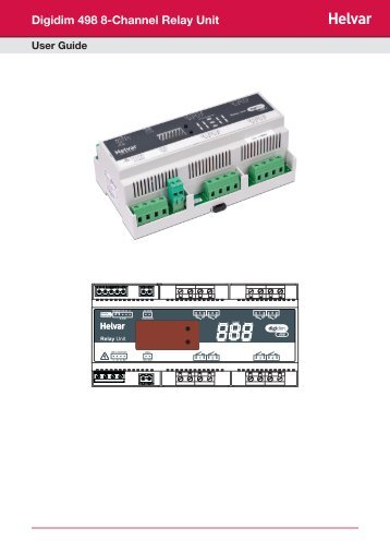 Digidim 498 8-Channel Relay Unit - Helvar