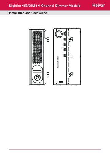 Digidim 458/DIM4 4-Channel Dimmer Module - Helvar