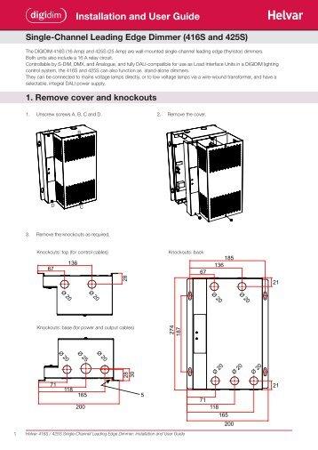 Installation and User Guide - Helvar