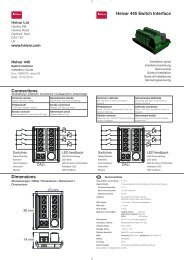 Helvar 445 Switch Interface Dimensions Connections