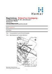 Begründung zur Auslegung 82 e - Hemer