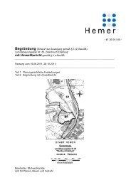 (Entwurf zur Auslegung gemäß § 3 (2) BauGB) - Hemer