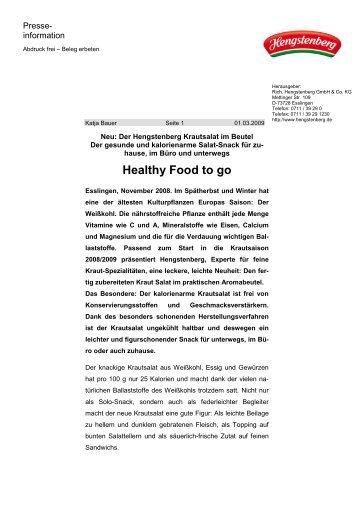 Pressemitteilung Krautsalat - Hengstenberg