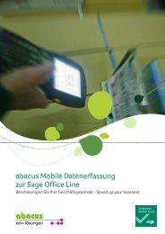 abacus Mobile Datenerfassung für die Sage Office Line