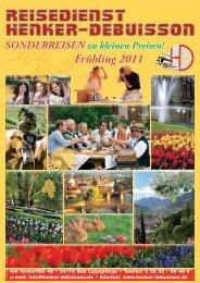 Frühling 2011 - Reisedienst Henker-Debuisson