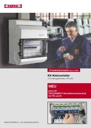 KV-Kleinverteiler jetzt mit FIXCONNECT ... - Hensel