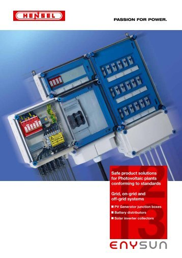 Safe product solutions for Photovoltaic plants conforming to ... - Hensel