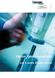 Hense Palettenwechsler - Hense Systemtechnik GmbH & Co. KG