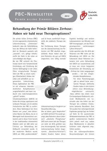 PBC Newsletter - Selbsthilfe Hepatitis Rhein-Main