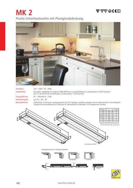 Katalogseite mit Bestellnummern - Hera