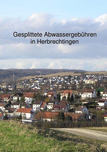 Gesplittete Abwassergebühren in Herbrechtingen - Stadt ...