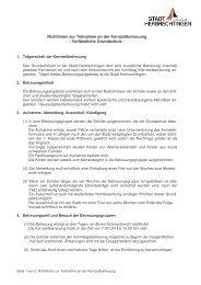 Richtlinien zur Teilnahme an der Kernzeitbetreuung - Stadt ...