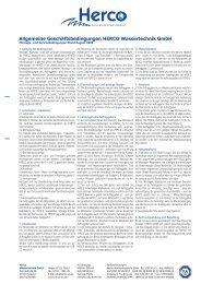 Montage- und Servicebedingungen (PDF) - Herco Wassertechnik ...