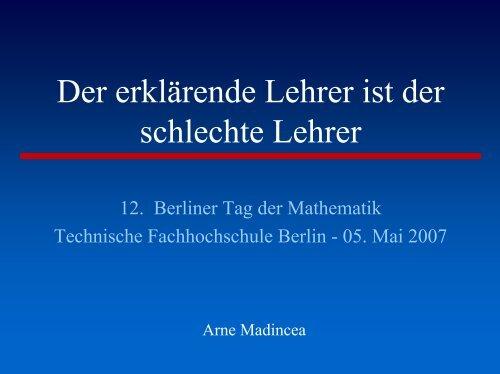 Der erklärende Lehrer ist der schlechte Lehrer - Herder-Gymnasium ...