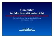 Computer im Mathematikunterricht - Herder-Gymnasium Berlin