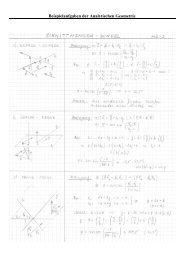 Beispielaufgaben der Analytischen Geometrie