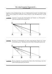 Ein wenig Geometrie, Trigonometrie ...