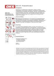 OKS 370 - Produktinformation