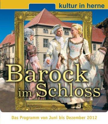 """Programm """"Barock im Schloss Strünkede"""" - Stadt Herne"""