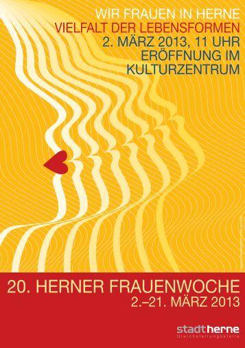 Programm der 20. Herner Frauenwoche - Stadt Herne