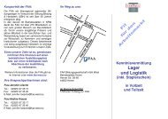 Flyer Kenntnisvermittlung Lager und Logistik