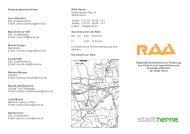 Ansprechpartner/innen RAA Herne - Stadt Herne