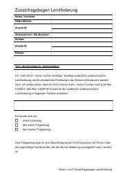 Zusatzfragebogen - Stadt Herne
