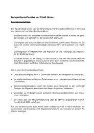 Integrationsoffensive - Stadt Herne